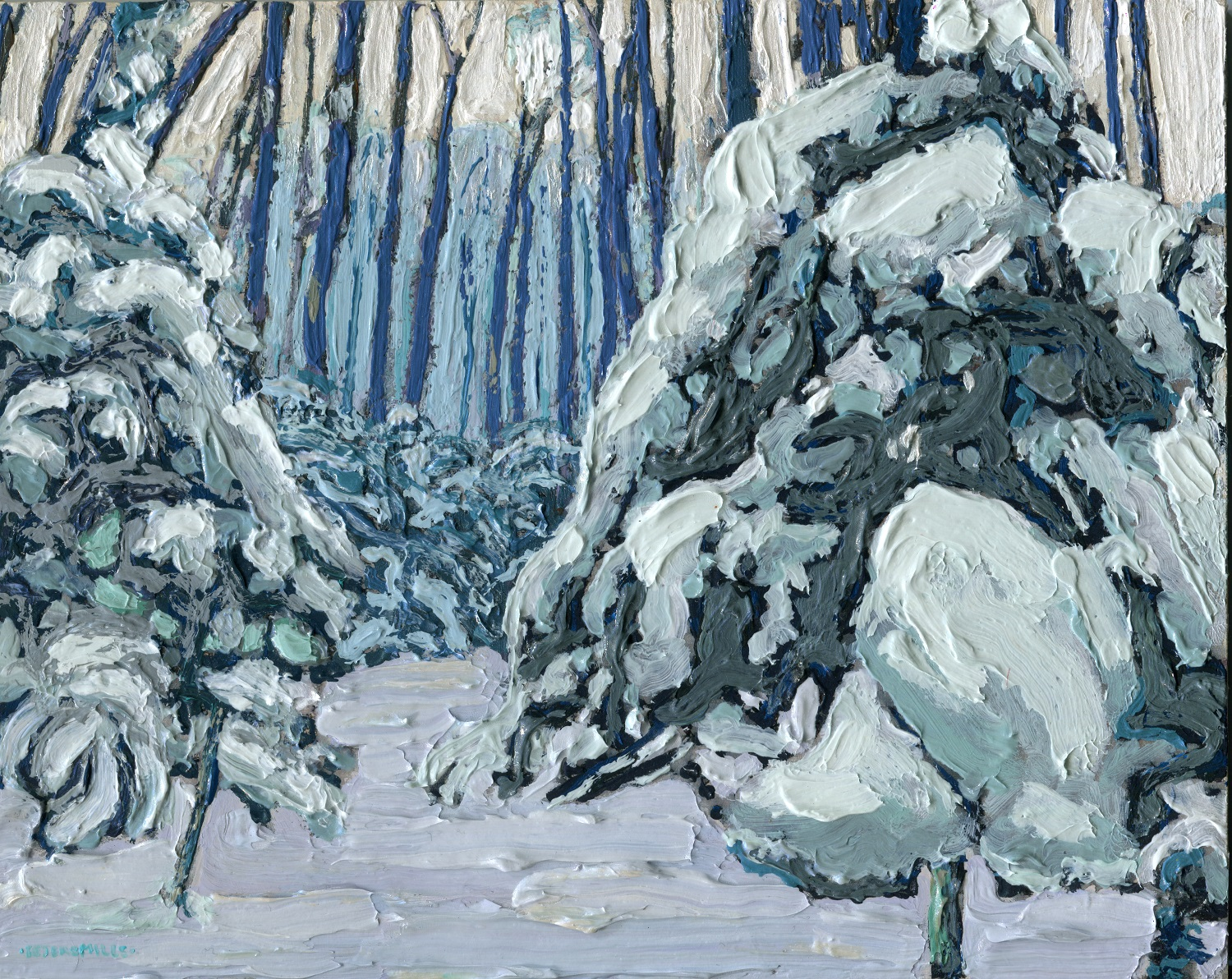 Snowy Woods Algonquin Art Centre A Canadian Art Gallery In