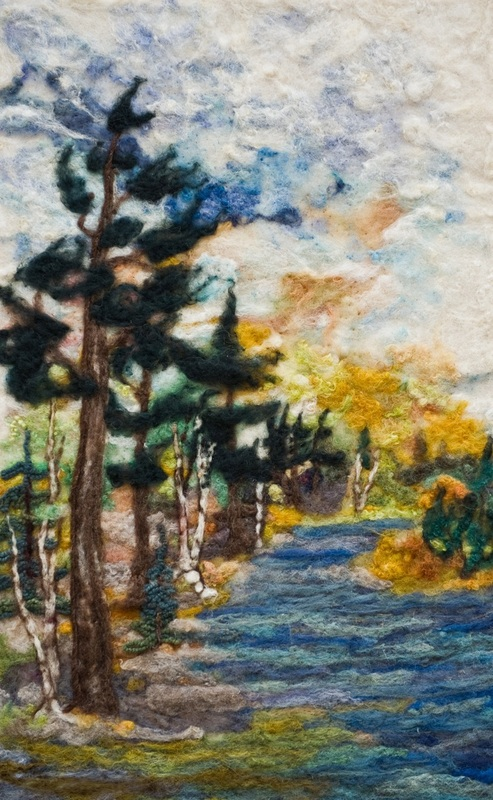 Watercolour With Wool With Pam Carnochan @ Algonquin Art Centre | Algonquin Provincial Park | Ontario | Canada